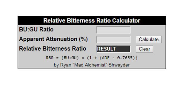 RELATIVE BITTERNESS RATIO (RBR)